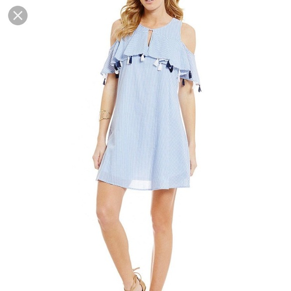 f368306e7d0 NWT Copper Key Blue   White Striped Dress Large